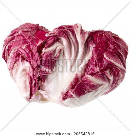 Radicchio, Red Salad Isolated On White Background