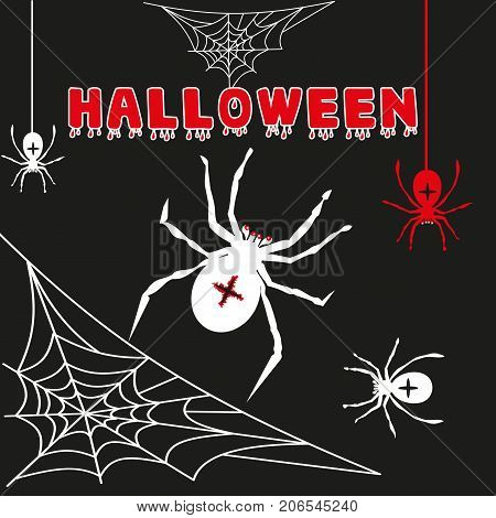 Cobweb spider web halloween black vector insect design spiderweb horror danger trap scary silhouette arachnid illustration. Spooky fear thread animal line creepy hanging netting.