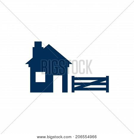 Vector Ranch Element In Trendy Style.  Isolated Farm Icon Symbol On Clean Background.