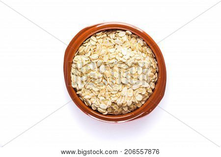 Uncooked Oats In Bowl