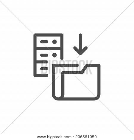 Hosting line icon isolated on white. Vector illustration