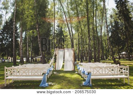 Wedding ceremony decoration, outdore, sunshine, nice design
