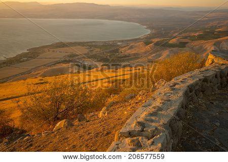 Sea Of Galilee (the Kinneret Lake), At Sunset