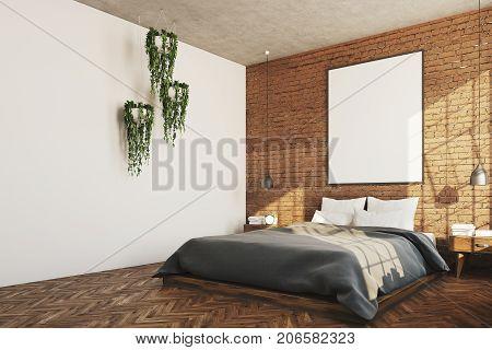 Brick Bedroom, Poster, Plants Corner