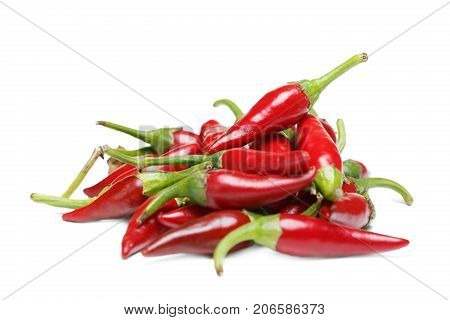 Chilli pepper. Assorted colorful varieties of hot and sweet peppers. Mexican hot chili peppers colorful mix. Dried red or cayenne pepper chilli isolated on white background cutout.