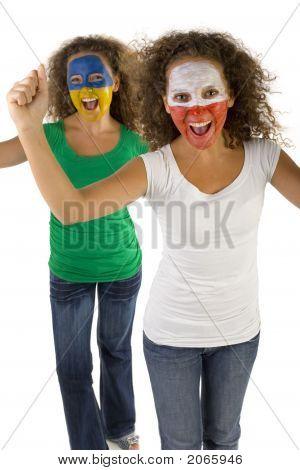 Teenagers Fans Of Sport