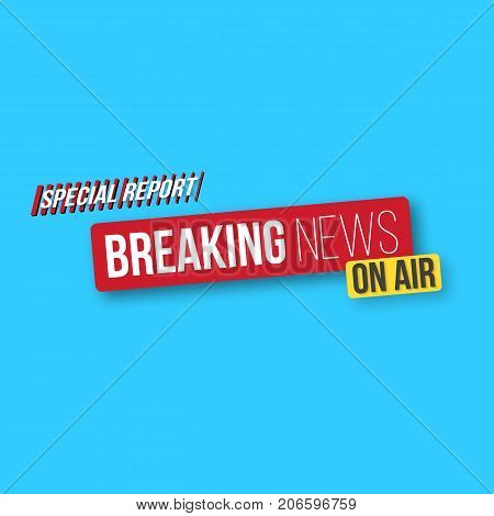 Illustration of Breaking News Banner Template. Vector News Opener. Broadcast Design Layout