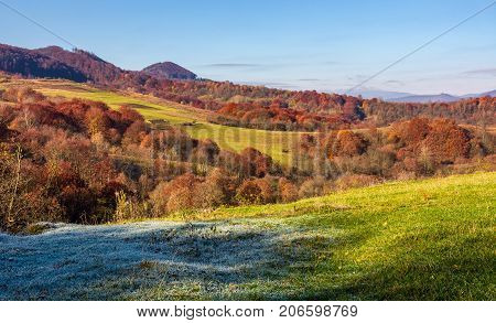 Grassy Meadow In Mountainous Countryside