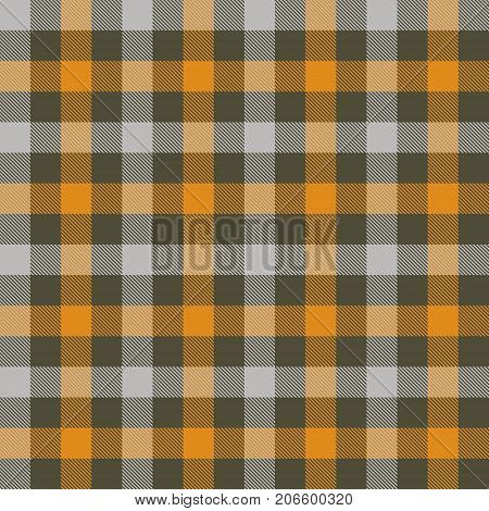Halloween Tartan Seamless Pattern Background. Autumn color panel Plaid Tartan Flannel Shirt Patterns. Trendy Tiles Vector Illustration for Wallpapers.