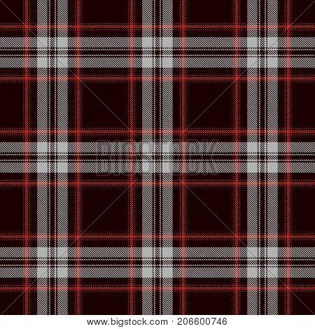 Tartan Seamless Pattern Background. Red Black and Gray Plaid Tartan Flannel Shirt Patterns. Trendy Tiles Vector Illustration for Wallpapers.