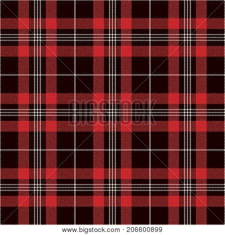 Tartan Seamless Pattern Background. Black Red and White Plaid Tartan Flannel Shirt Patterns. Trendy Tiles Vector Illustration for Wallpapers.