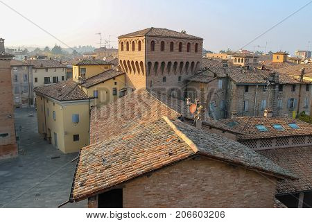 In historic city center of Vignola Italy