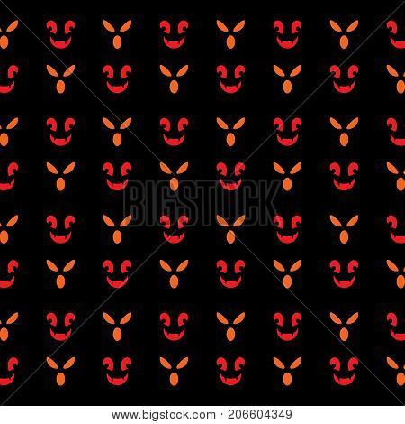 Fearful face created halloween pattern background stock vector