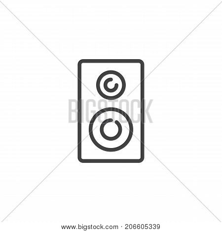 Stereo loudspeakers line icon, outline vector sign, linear style pictogram isolated on white. Symbol, logo illustration. Editable stroke