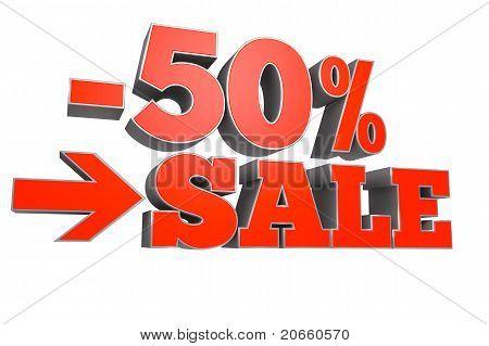 50% sale discount