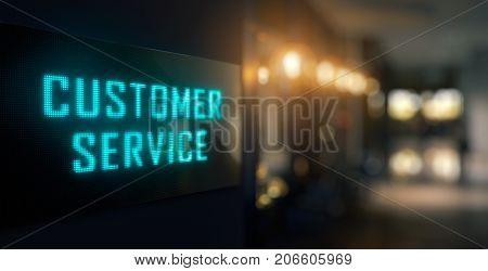 Customer Service Led Signage - 3D Rendering