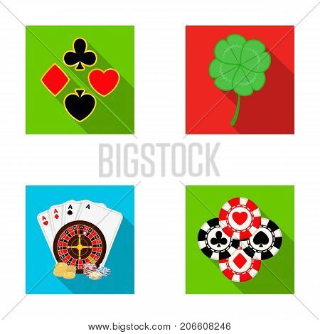 Excitement, casino, game and other  icon in flat style. Cheating, entertainment, recreation, icons in set collection.