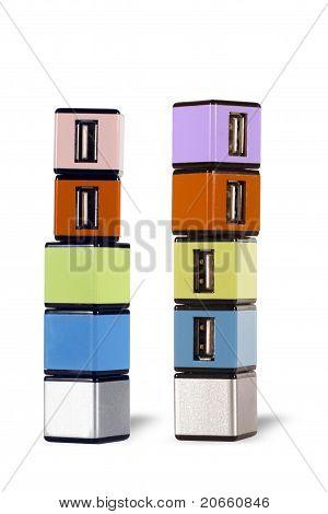 COLOR 4 PORT USB