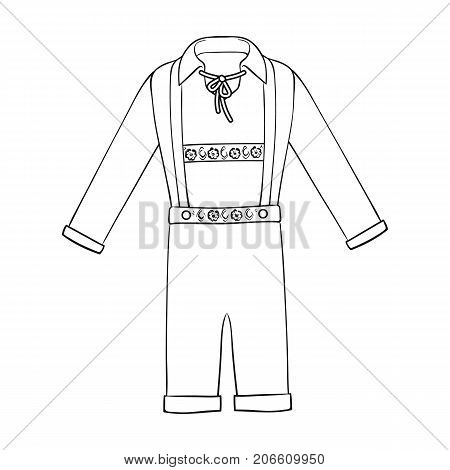 Suit single icon in outline style.Suit, vector symbol stock illustration .