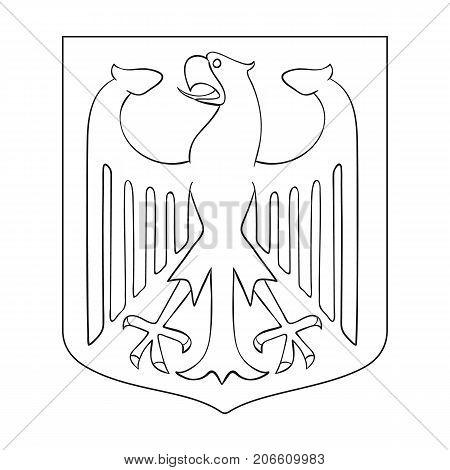 Emblem, single icon in outline style.Emblem, vector symbol stock illustration .