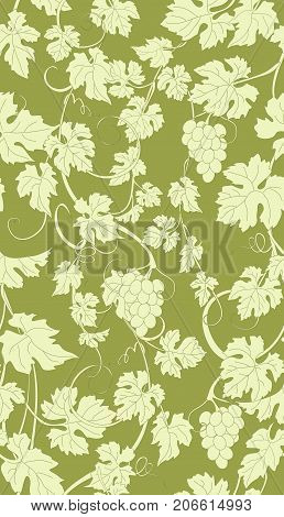 Seamless texture with vines. Vector repeating pattern with vines in vintage style.