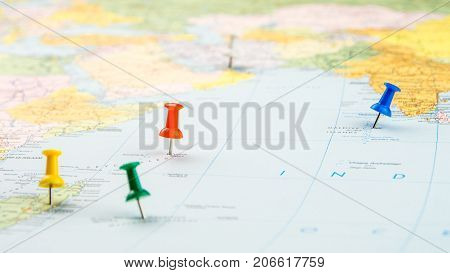 Draw-pin Stick Into Real Map, Identification Of Final Destination