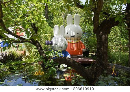 Cha-am THAILAND - SETEMBER 24 2017: Miffy zone in the Santorni Park.