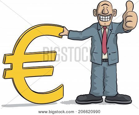 Man With Euro Sign