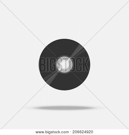 Compact disc CD flat icon with shadow