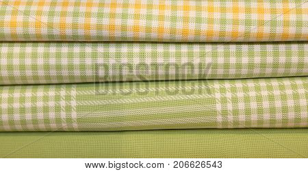 Colorful Fabrics In The Dress Shop For Dresses Or Trendy Tablecl