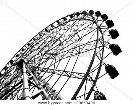 Outline Of A Large Ferris Wheel