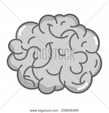 grayscale human brain anatomy to creative and intellect vector illustration