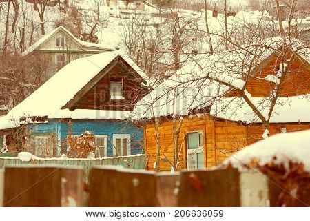 Snow House In Winter Dreamland At Dawn In Forest