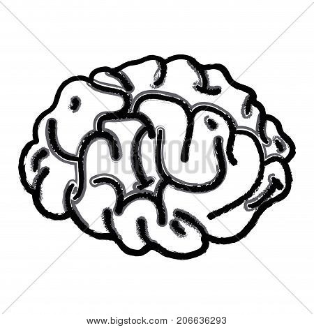figure human brain anatomy to creative and intellect vector illustration