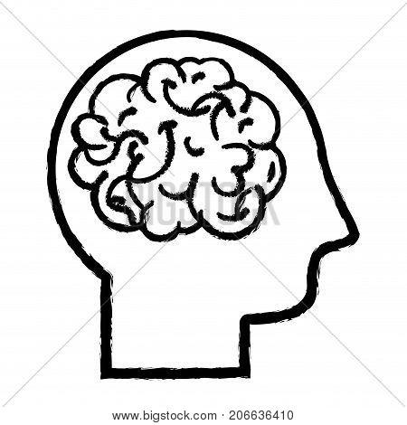figure man with anatomy brain design vector illustration