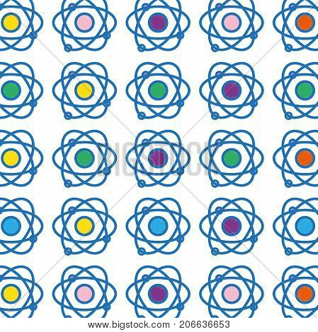 physics orbit atom chemistry education background vector illustration