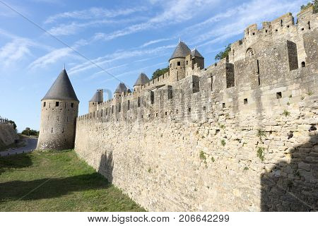 The Pretty Village Of Carcassonne In France