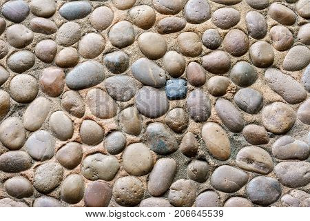 Stones and sands on the ground for background