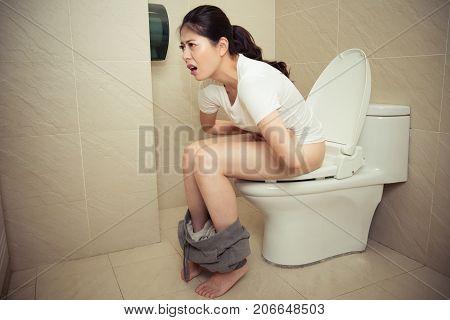 Girl During Menstruation Feeling Stomach Ache