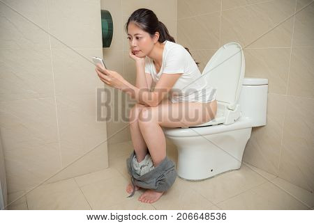 Beautiful Young Woman Using Mobile Cell Phone