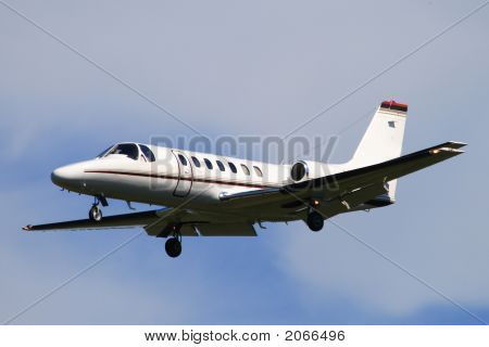 Cessna Citation 560 business jet aircraft on arrival poster