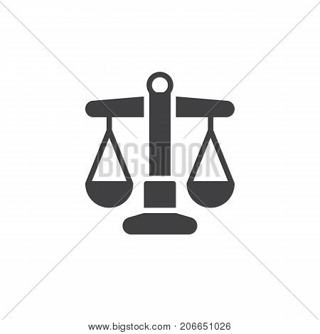Libra icon vector, filled flat sign, solid pictogram isolated on white. Symbol, logo illustration.