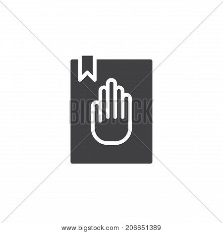 Oath icon vector, filled flat sign, solid pictogram isolated on white. Symbol, logo illustration.
