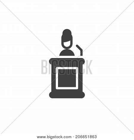 Witness icon vector, filled flat sign, solid pictogram isolated on white. Symbol, logo illustration.