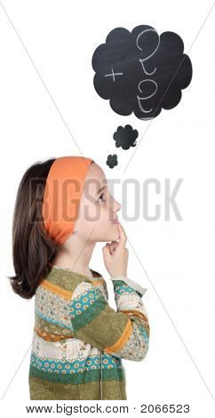 Girl Thinking In Numbers