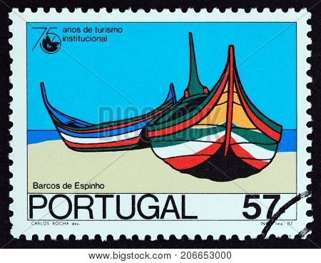 PORTUGAL - CIRCA 1987: A stamp printed in Portugal from the