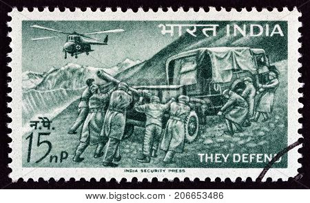INDIA - CIRCA 1963: A stamp printed in India from the