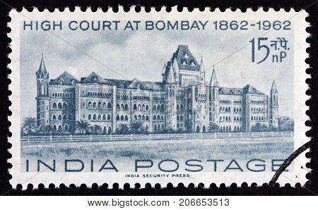 INDIA - CIRCA 1962: A stamp printed in India from the