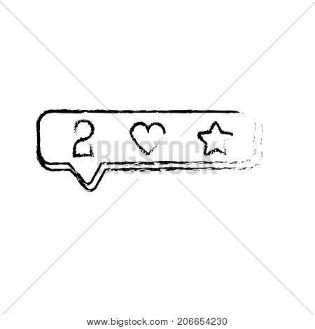 figure chat bubble with bar icons design vector illustration