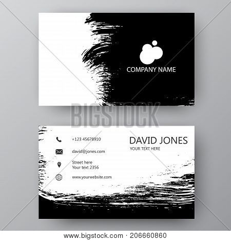 Visiting Card. Vector Illustration Business Card. Visiting Card With Company Logo. Vector Illustrati